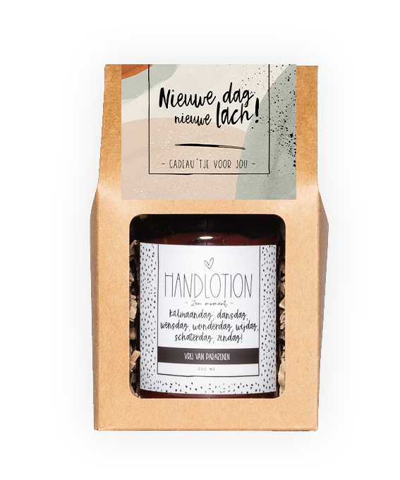 Handlotion giftbox - Nieuwe dag, nieuwe lach