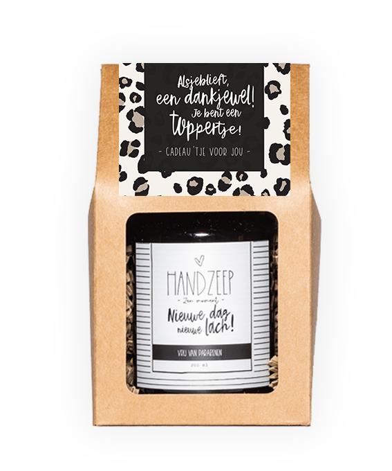 Handzeep giftbox - Dankjewel toppertje