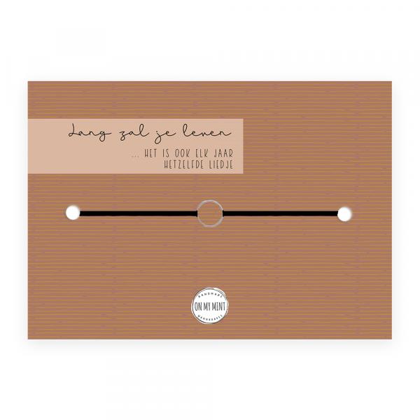 Kaart met sieraad - verjaardag - hetzelfde liedje