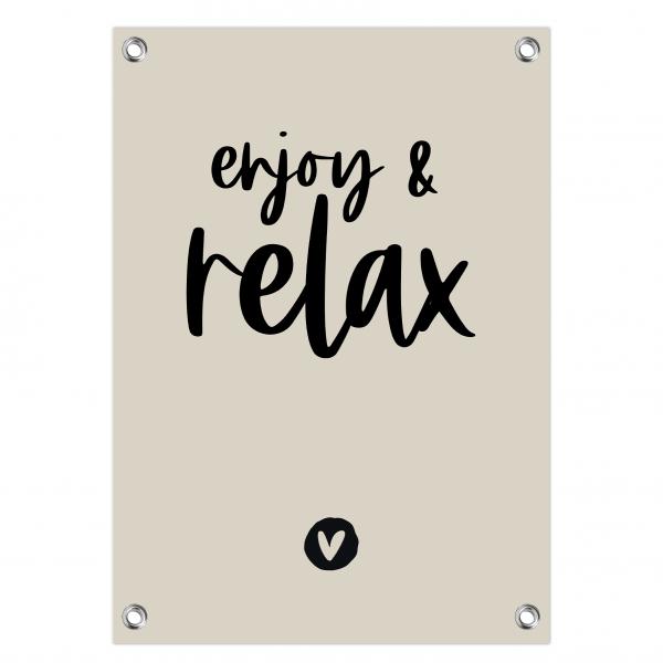 Enjoy and relax grijs-zwart website