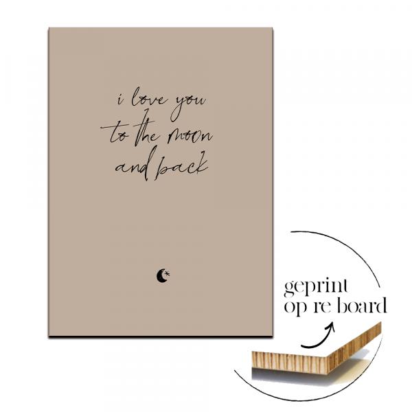 Poster op karton | I love you