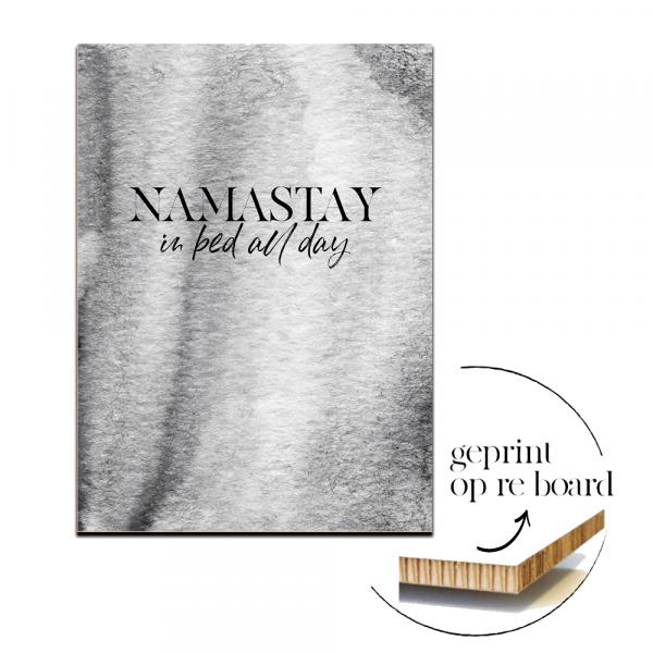 Poster op karton | Namastay