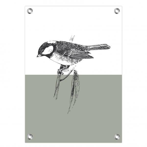 Tuinposter Bird mint
