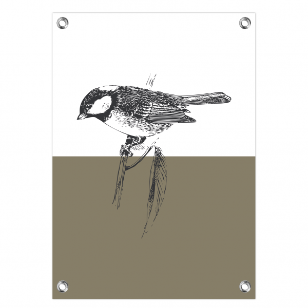 Tuinposter Bird olijf