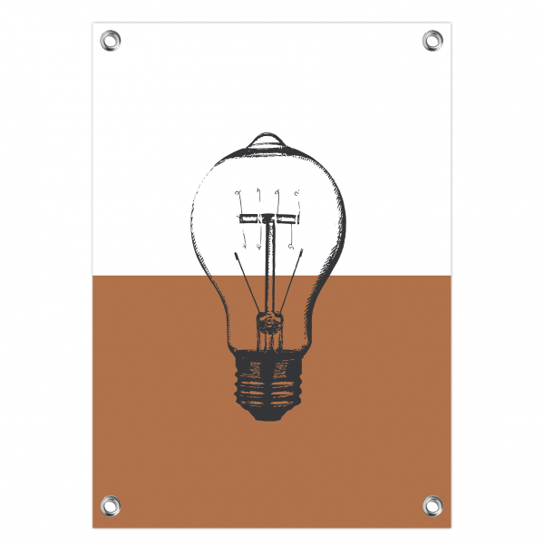 Tuinposter Bulb roest
