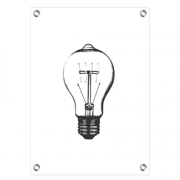 Tuinposter Bulb wit