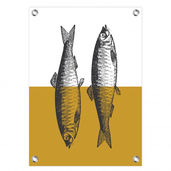 Tuinposter Fish oker