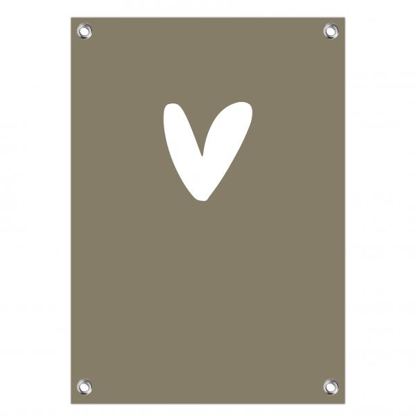 Tuinposter hart olijf
