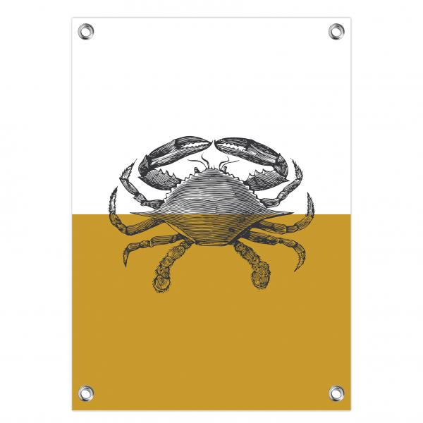 Tuinposter Crab oker