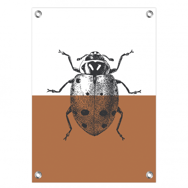 Tuinposter Ladybug roest