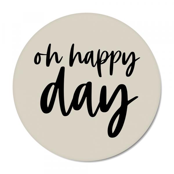 Oh happy day - grijs BG