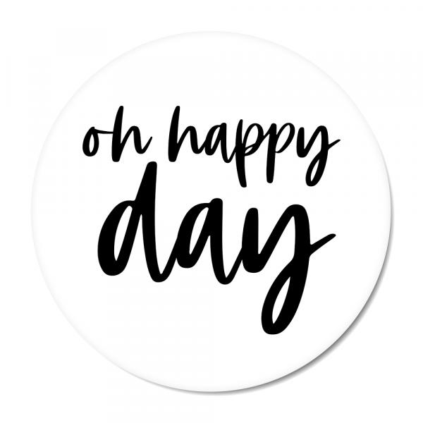 Oh happy day - zwart