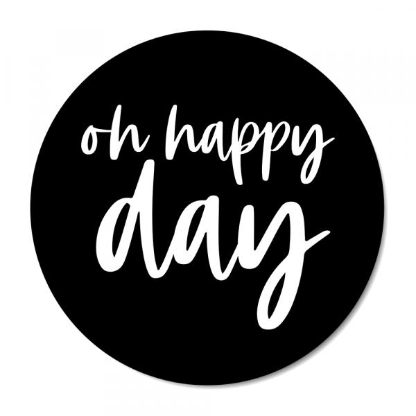 Oh happy day - zwart BG