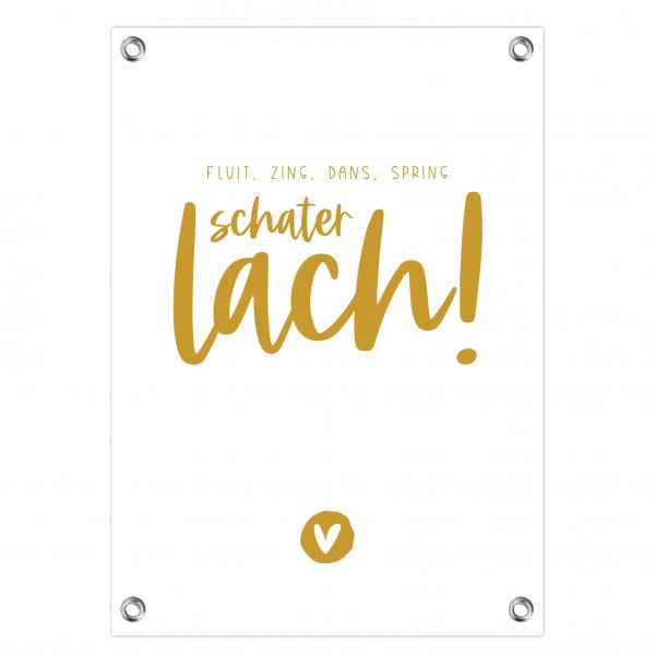 Tuinposter Schaterlach oker