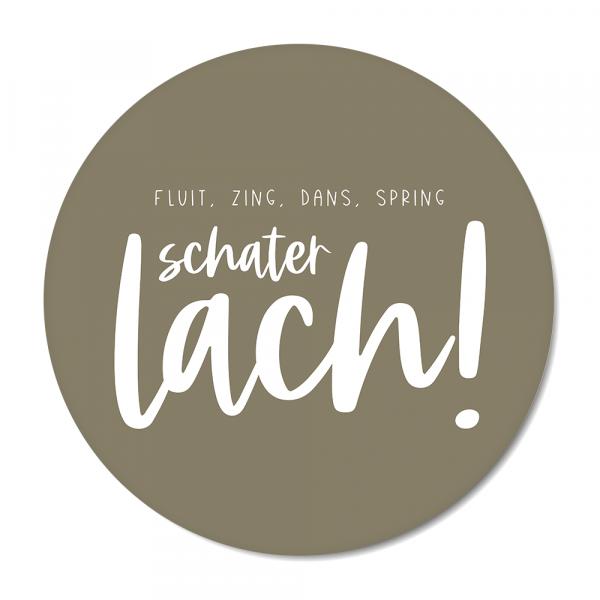 Schaterlach - olijf BG