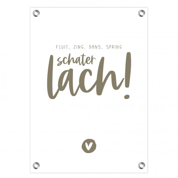 Tuinposter Schaterlach olijf