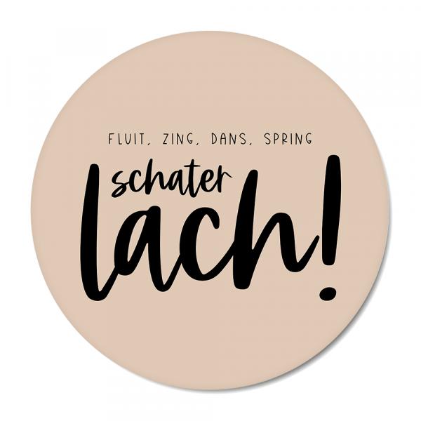 Schaterlach - roze BG