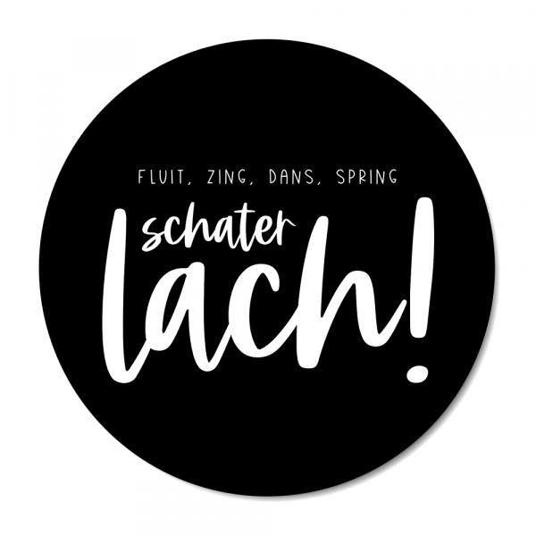 Schaterlach - zwart BG