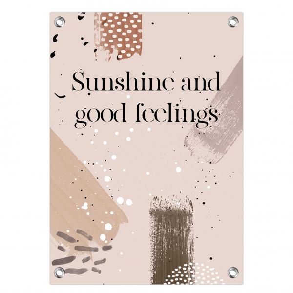 Tuinposter - sunshine feelings - brushes