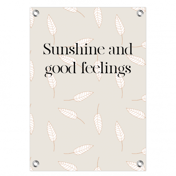 Tuinposter - sunshine feelings - leaves