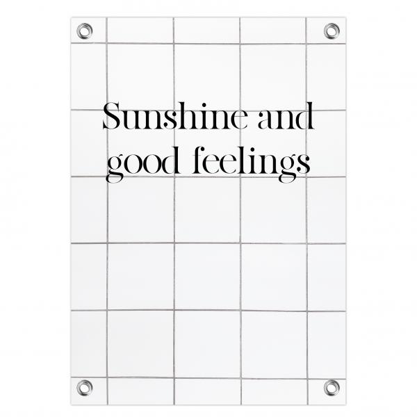 Tuinposter - sunshine feelings - tiles