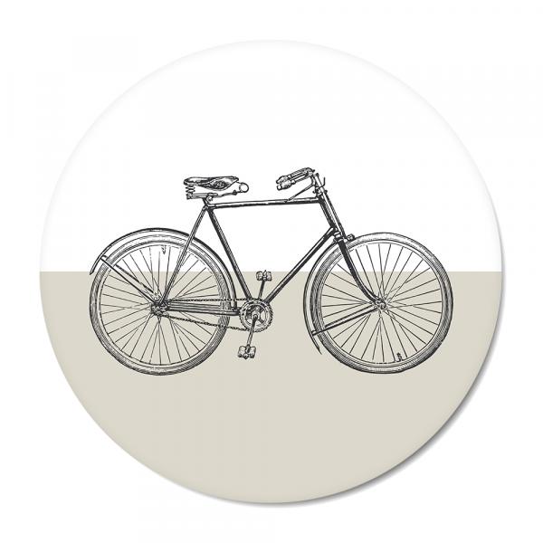Cirkel - vintage bike grijs