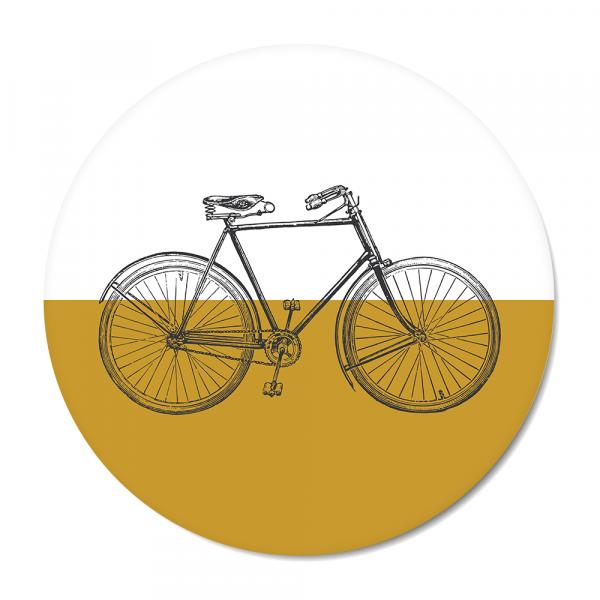 Cirkel - vintage bike oker