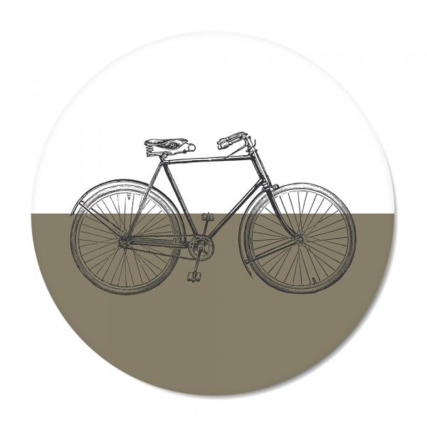 Cirkel - vintage bike olijf