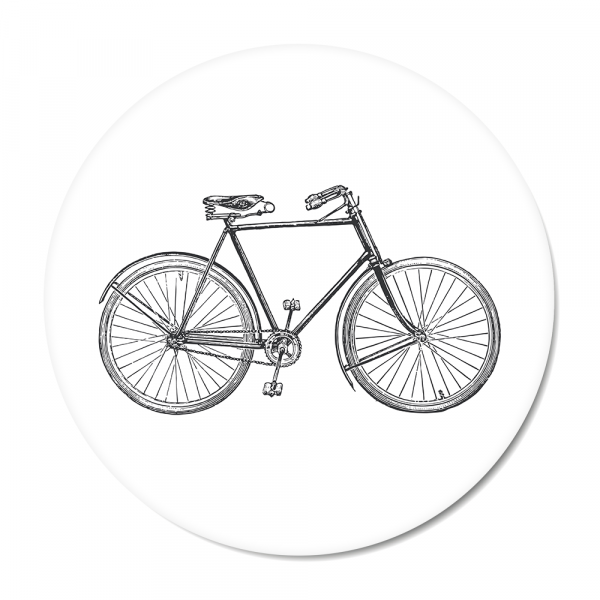 Cirkel - vintage bike wit