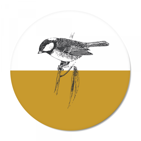 Vintage - bird - oker
