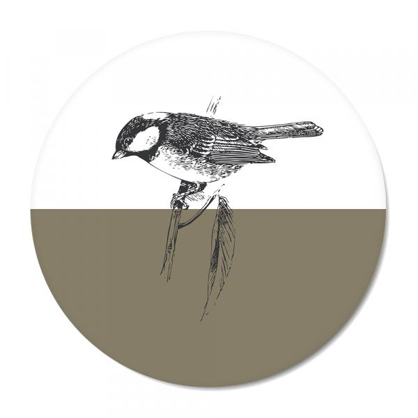 Vintage - bird - olijf