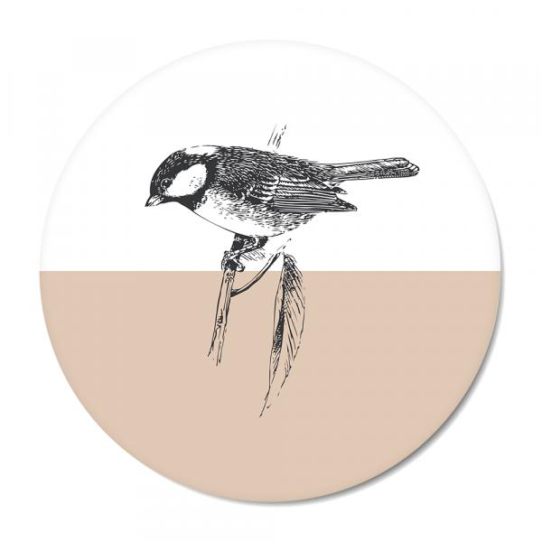 Vintage - bird - roze