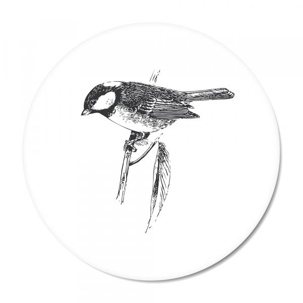 Vintage - bird - wit
