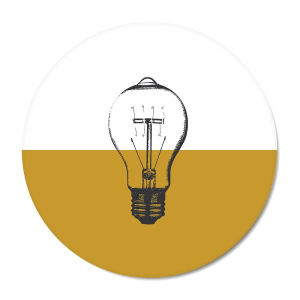 Vintage - bulb - oker