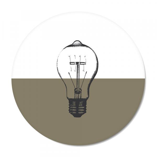 Vintage - bulb - olijf
