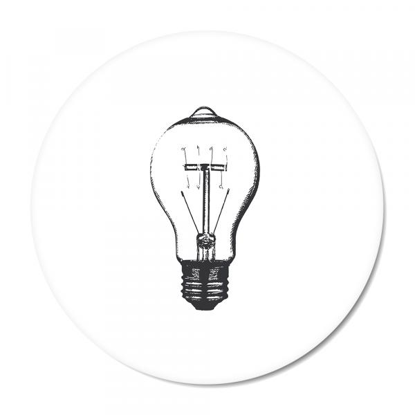 Vintage - bulb - wit