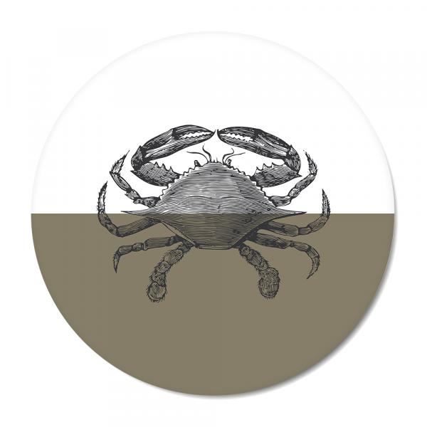 Vintage - crab - olijf