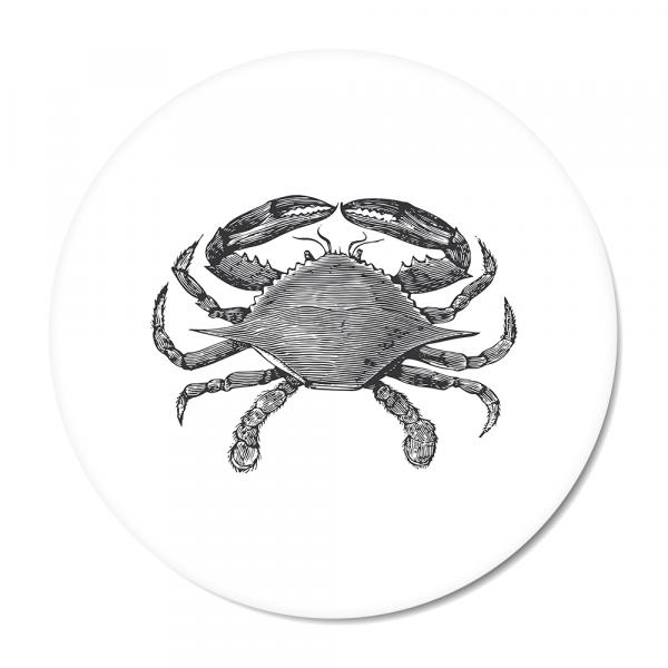 Vintage - crab - wit