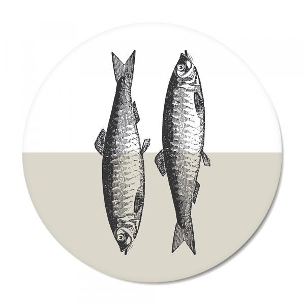 Vintage - fish - grijs