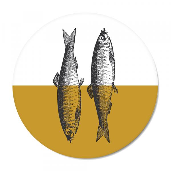 Vintage - fish - oker