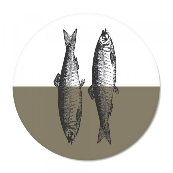 Vintage - fish - olijf