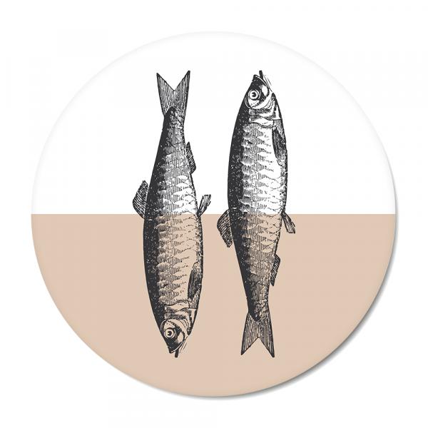 Vintage - fish - roze