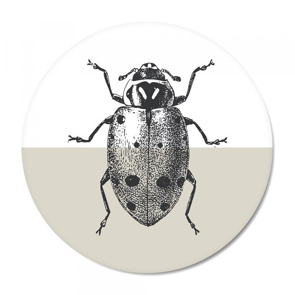 Vintage - ladybug - grijs