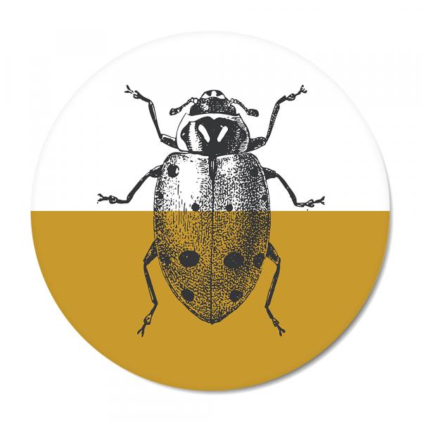 Vintage - ladybug - oker