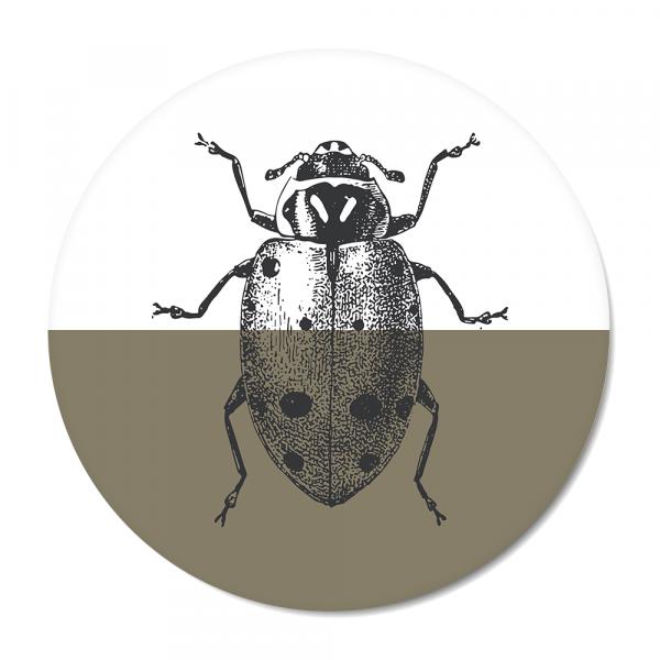 Vintage - ladybug - olijf